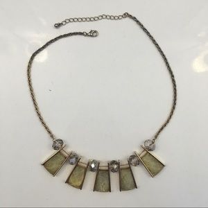 Geometric yellow crystal necklace